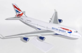 Boeing 747-400 British Airways Union Flag Model Scale 1:250 Snap Fit Type Premier Models SM74764 eb